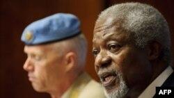 Кофи Аннан и глава миссии международных наблюдателей в Сирии генерал Роберт Муд