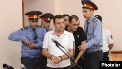 Armenia -- Vardan Sedrakian, a former presidential candidate convicted of plotting another candidate's assassination, in the court room, 19 Sep, 2013