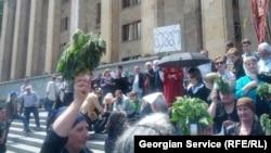 На акции против защиты прав геев. Тбилиси, 17 мая 2013 года.