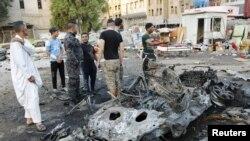 Pamje pas sulmit të sotëm me makinë-bombë në Bagdad