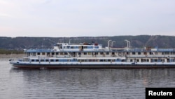 "The riverboat ""Bulgaria"" is seen on the Volga River outside the Russian city of Samara in an August 2010 photo, less than a year before the disaster."