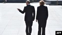 Ангела Меркель и Владимир Путин, 2015 год