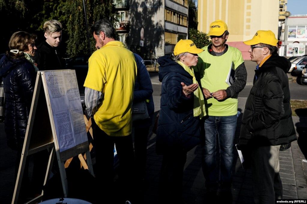 Во время сбора подписей в Бресте