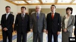 Средба на Министерот за надворешни работи НР Никола Попоски со претседателот на Хрватска Иво Јосиповиќ во Загреб