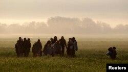 Izbjeglice na putu ka Idomeniju, 2016.