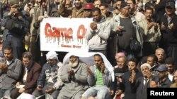"""Каирдин """"Тахрир"""" аянтындагы президент Мубарактын режимине каршы нааразылык жыйын. 2011-жылдын 4-февралы."""