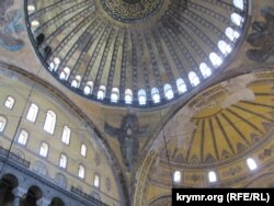 Под сводами Святой Софии (Стамбул, Султанахмет 2013 год)