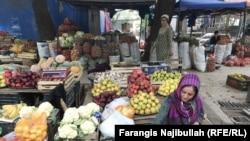 A local bazaar in Norak, Tajikistan