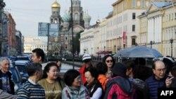 Туристы из Китая в Санкт-Петербурге