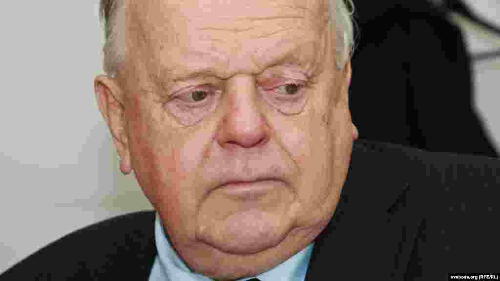 Станіслаў Шушкевіч у Менскім бюро Свабоды