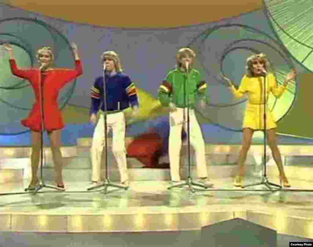 "British pop group Bucks Fizz also had a string of hits after their ""Making Your Mind Up"" won Eurovision in 1981 following a racy dance routine that involved the girls' skirts being whisked off."