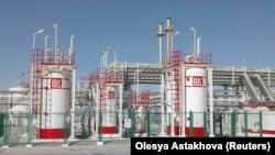 Газовый объект компании «Лукойл» в Джаркудуке, Андижанская область Узбекистана.