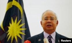 Премьер-министр Малайзии Наджиб Разак на пресс-конференции 22 июля