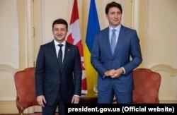 Президент України Володимир Зеленський (ліворуч) і прем'єр-міністр Канади Джастін Трюдо. Торонто, 2 липня 2019 року