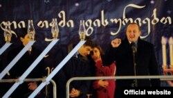 საქართველოს პრეზიდენტი გიორგი მარგველაშვილი ხანუქის დღესასწაულზე