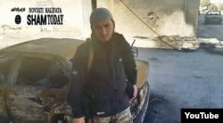 Sham Today жариялаған Сириядағы шешен содырының видеосынан алынған скриншот. (Көрнекі сурет)