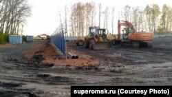 Участок у поселка Омский, где планируется строить вахтовый поселок для мигрантов из Китая