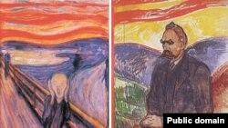 Э.Мунк. Крик. 1893. Национальная галерея, Осло. Э.Мунк. Фридрих Ницше. 1906. [В 1908 году после лечения творчество Эдварда Мунка перестало быть ярким.]