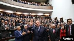 Presidenti turk, Recep Tayyip Erdogan, në Parlamentin e Turqisë - foto arkivi