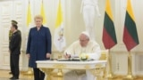 Papa Francis və Litva prezidenti Dalia Grybauskaite