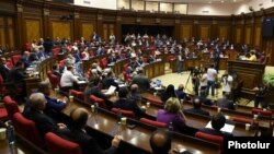 Armenia - The National Assembly in Yerevan debates a Tax Code drafted by the Armenian government, 13Jun2016.