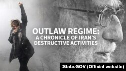 "U.S. State Department released a report on Iran titled as ""Outlaw Regime: A Chronicle of Iran's Destructive Activities"". Screenshot from State Department Website."