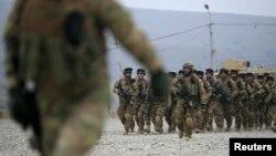 Грузинские военнослужащие на учениях под Тбилиси. Иллюстративное фото.