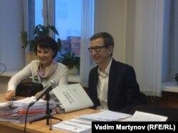 Галина Ширшина и Петр Трифонов в зале суда