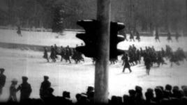 1986 жылғы Алматыдағы Желтоқсан оқиғасы кезіндегі әскер.
