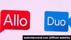 "Google firmasynyň ""Duo"" we ""Allo"" programmalary."