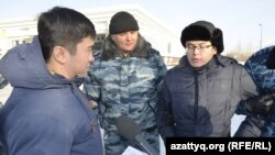 Graždan aktiwisti Meiram Duisenow, Astana, 6-njy fewral, 2015.