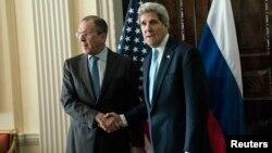 Сергей Лавров менен Жон Керри Лондон шаарында, 14.03.2014