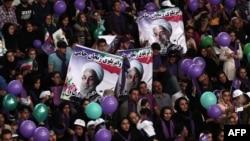 Նախընտրական քարոզչական հանրահավաք Իրանում՝ հօգուտ նախագահի թեկնածու, գործող նախագահ Հասան Ռոհանիի, 16-ը մայիսի, 2017 թ․