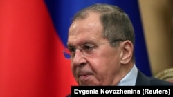 Russian Foreign Minister Sergei Lavrov (pictured) and U.S. envoy Elliott Abrams issued warnings about actions in Venezuela.