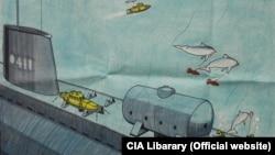 Программа обучения дельфинов. Рисунок. Библиотека ЦРУ