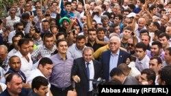 Встреча-митинг Джамиля Гасанлы с избирателями 22 сентября 2013. Архивно-иллюстративное фото