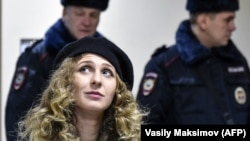 Maria Alyokhina was one of two Pussy Riot members to be fined. (file photo)