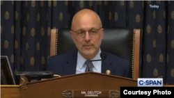 Congressman Ted Deutch (D) chairing a hearing at the U.S. Congress' Subcommittee on the Middle East Policy on October 30, 2019.