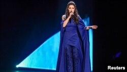 Украинская певица крымско-татарского происхождения Джамала на Евровидении. Стокгольм, 12 мая 2016 года.