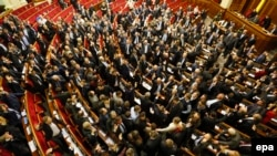 Lawmakers voted for the amendment by a show of hands, not electronically, as the opposition has been blocking the parliament's podium since January 14.