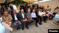 Armenia - Opposition and civic leaders form an alliance against constitutional changes sought by President Serzh Sarkisian, Yerevan, 12Sep2015.