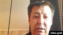 Скриншот видеообращения Дулата Агадила.