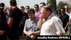 Jurnalist Rauf Mirqədirovun atasının dəfnindən görüntülər