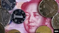 Китайский юань укрепляется по отношению к российскому рублю