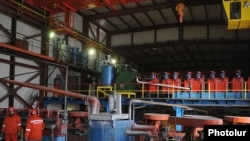 Armenia -- An ore-processing plant in Kapan.