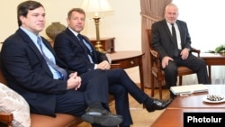 Armenia - The U.S., French and Russian co-chairs of the OSCE Minsk Group visit Yerevan, 6 October 2017.