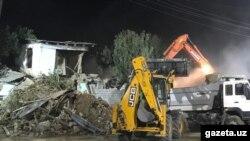 Снос домов на массиве Себзар в Ташкенте, 29 сентября 2018 года.