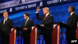 Республіканські кандидати у президенти США (зліва направо) Джеб Буш, Марко Рубіо, Дональд Трамп, Бен Карсон