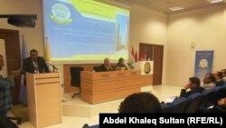 جانب من جلسات مؤتمر عن الفساد وكيفية التصدي له في جامعة نوروز بدهوك