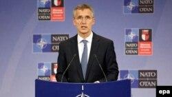 Генеральный секретарь НАТО Йенс Столтенберг. Брюссель, 14 июня 2016 года.